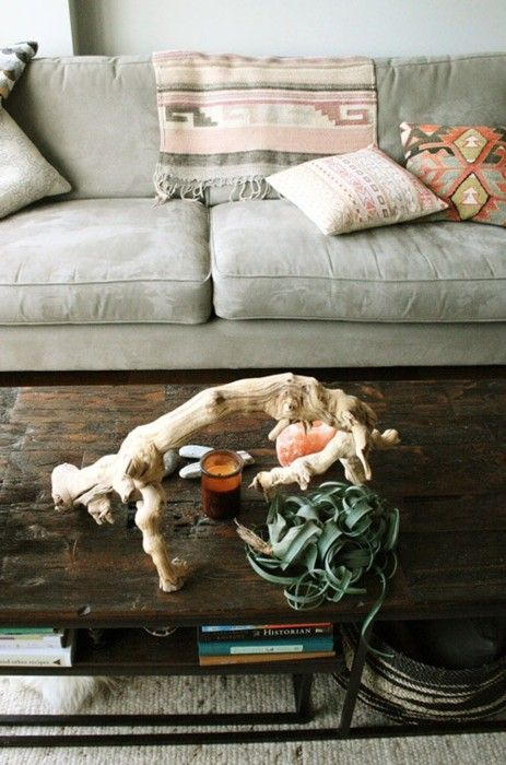 navajo: Decor, Grey Couch, Coffee Tables, Interior, Living Rooms, Inspiration, Color, Livingroom, Space