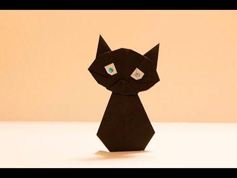 【折紙(origami)】ハロウィーン・キャット Halloween-Cat - YouTube