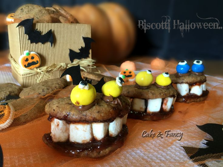 Biscotti nocciole cioccolato halloween