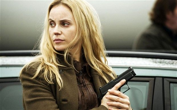 Sofia Helin as Saga Noren in the Swedish-Danish crime drama The Bridge