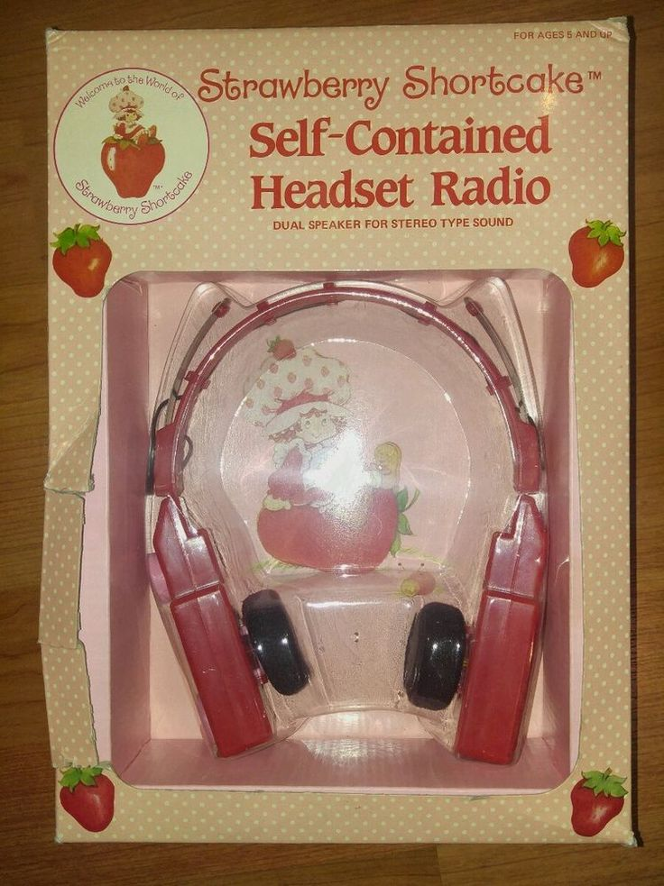 Vintage Strawberry Shortcake Self-Contained Headset Radio NEW in box