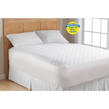 Mainstays Supersoft Mattress Pad, Queen, White