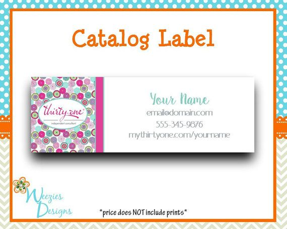 Thirty One Bubble Bloom Catalog label Direct by WeeziesDesigns