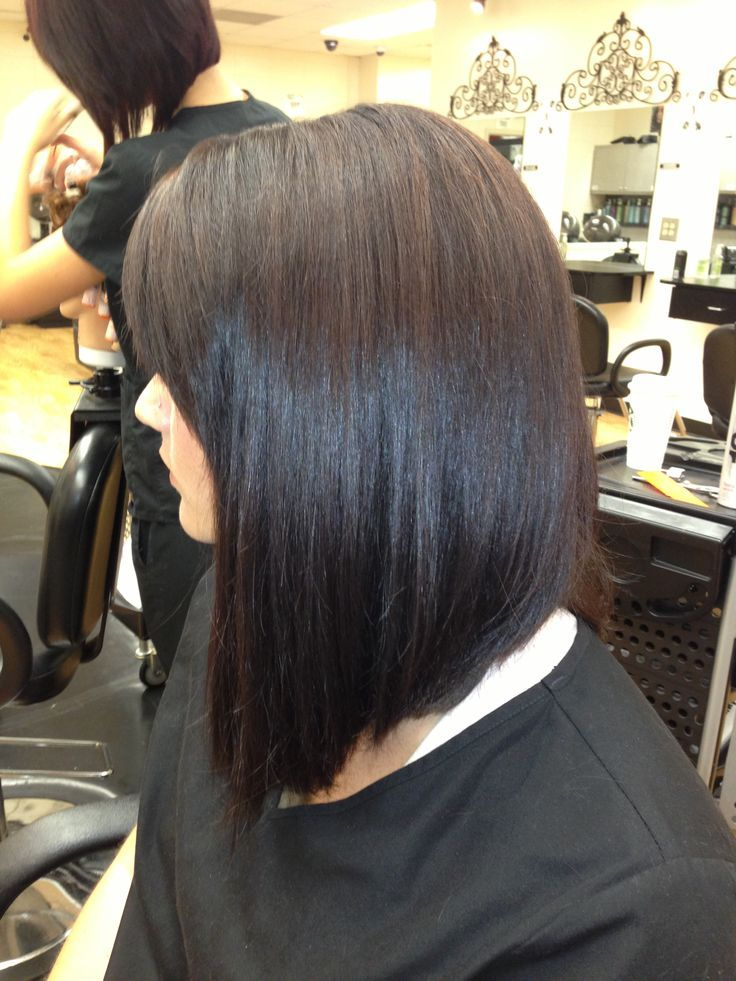 Long angled bob | ♥ Hair & Make Up ♥ | Hair, Hair cuts ...