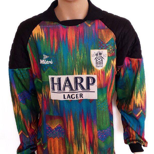 1995-96 Aldershot Town goalie shirt @topercornershirts 25  Link in bio #footballshirt #footballshirtcollective #aldershot #aldershottown #aldershottownfc #mitre #vintagefootball