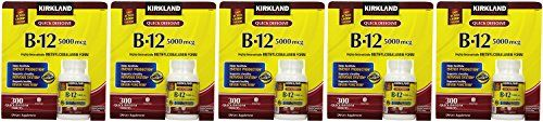 Kirkland Signature Sublingual B12 5000 mcg VwoWv 300 Tablets Pack of 5 -- Be sure to check out this awesome product.
