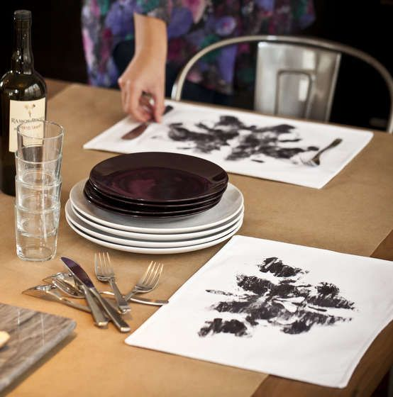 Rorschach Ink Blot Placemats Bring Aesthetic Personality to the Table #DIY #home trendhunter.com