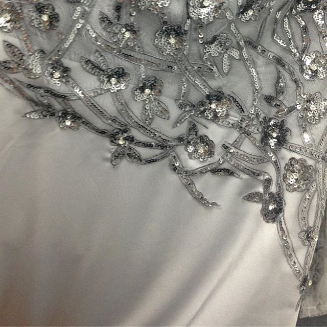 New cocktail collection  coming soon! #lenakasparian #designer #fashion #handcafted #applique #lace #silver #cocktail #dresses