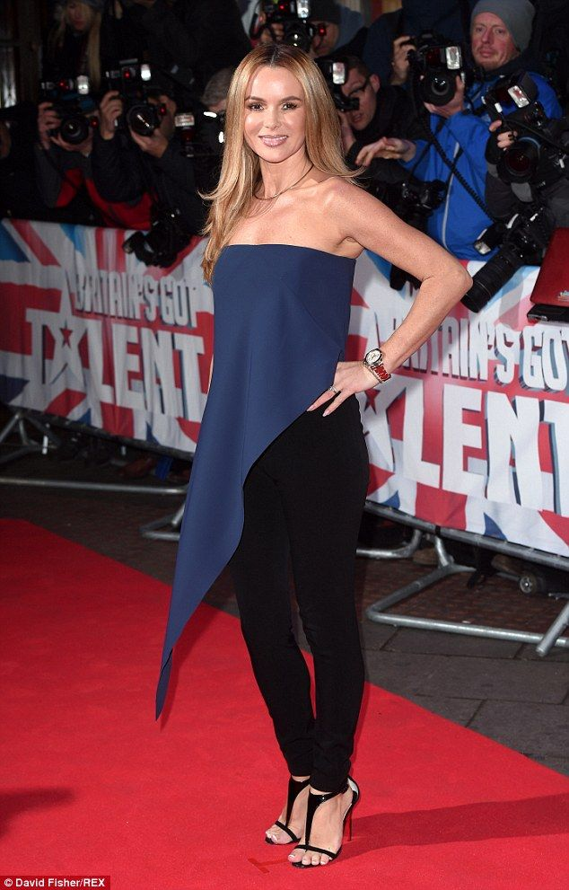 Throwback fashion moment: Amanda Holden wears a top over trousers as the Britain's Got Talent auditions return to London