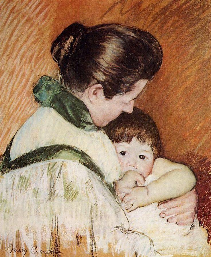 Sleepy Thomas Sucking His Thumb Mary Cassatt (1893)