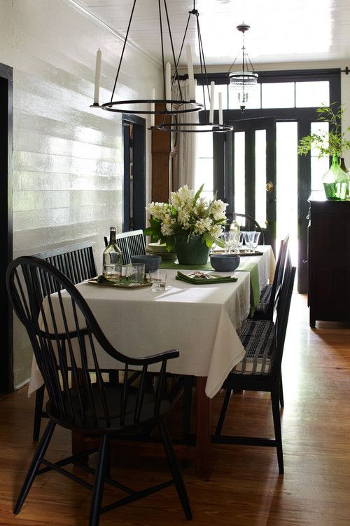 Farmhouse Dining Room feature the Windsor Chair