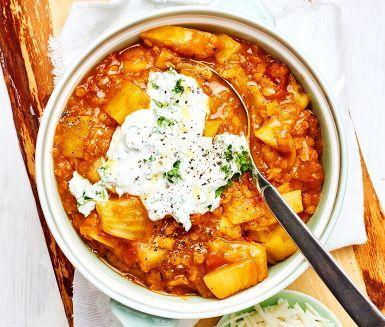 Linsgryta med fänkål och curry