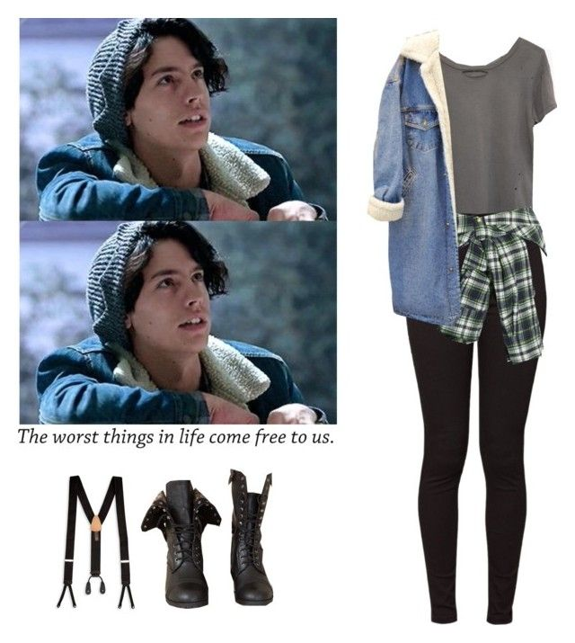 """Jughead Jones - Riverdale"" by shadyannon ❤ liked on Polyvore featuring Trafalgar, Ragdoll, American Apparel and Faith Connexion"
