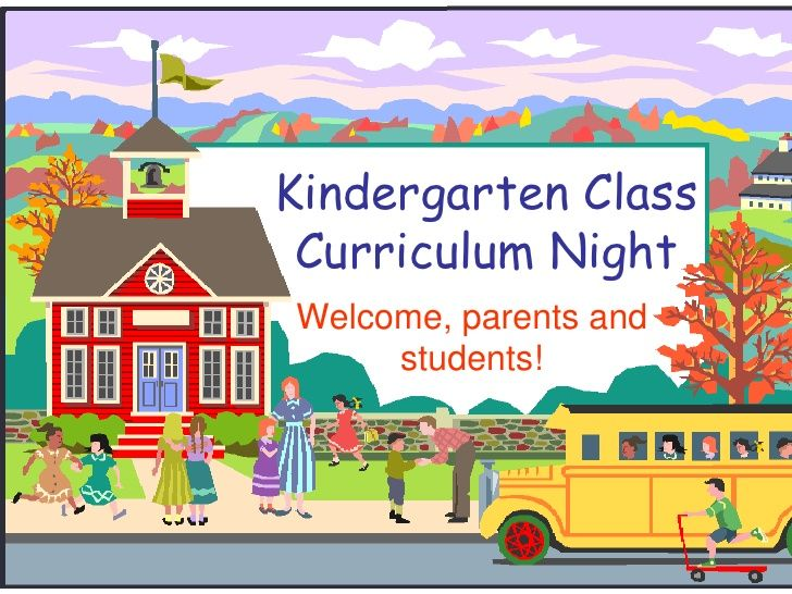 Kindergarten Curriculum Night ppt