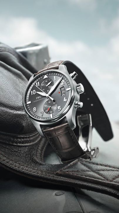 ♠ IWC Pilot's Watch Chronograph #Men #Watches #Lifestyle For more information on the IWC line of timepieces, please be sure to visit www.cdpeacock.com.
