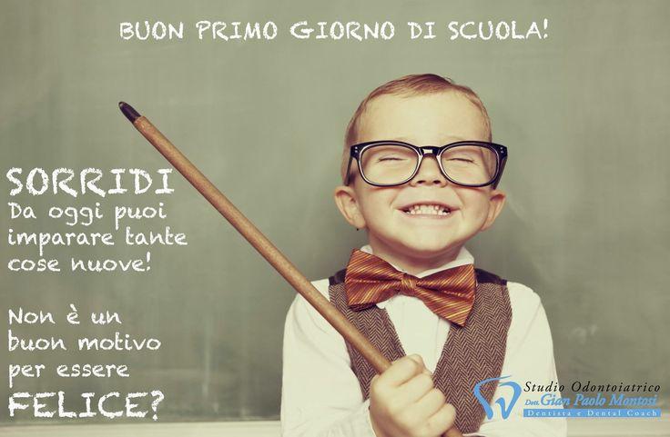 Buon primo giorno di scuola a tutti, dai più grandi ai più piccini! #scuola #primogiornodiscuola #sorridi