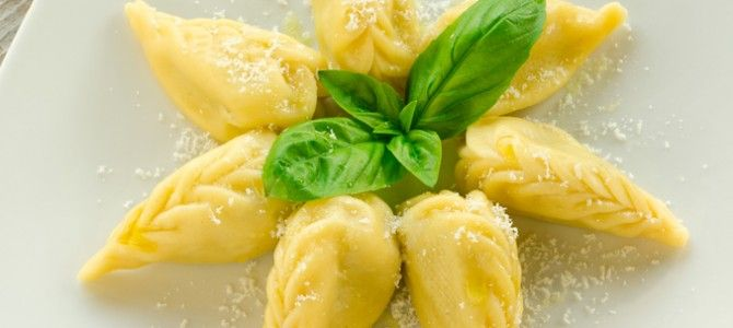 Potatoes and mint Culurgiones