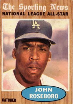topps  john roseboro front  favorite baseball card sets    baseball
