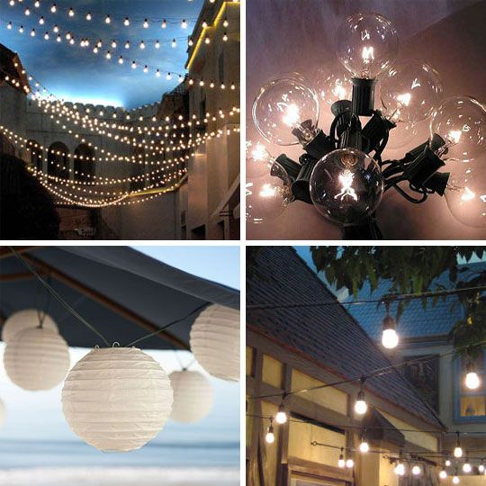 The best outdoor string lights to light up the backyard for Balcony lighting ideas
