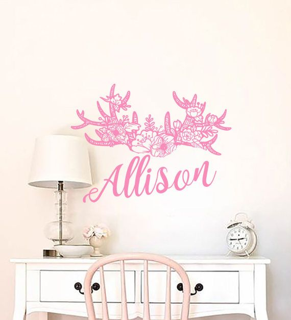 Best Name Wall Decals Images On Pinterest Name Wall Decals - Custom vinyl wall decals flowers