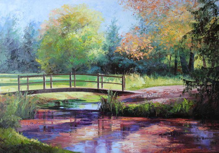 ősz, fények, árnyékok, víztükör