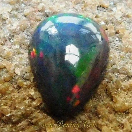 Batu Mulia Pear Cab Black Opal 1.10 Carat