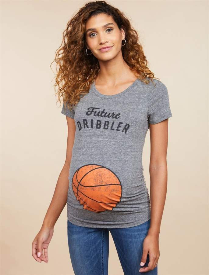 d216d6cc8 Motherhood Maternity Future Dribbler Basketball Maternity Graphic Tee