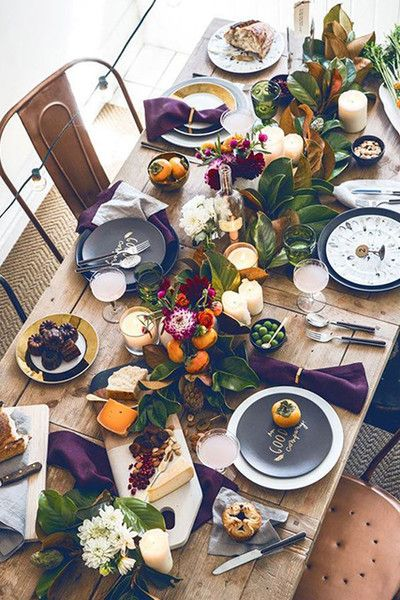 Fill Your Table - Thanksgiving Day Tables That Are #Goals - Photos