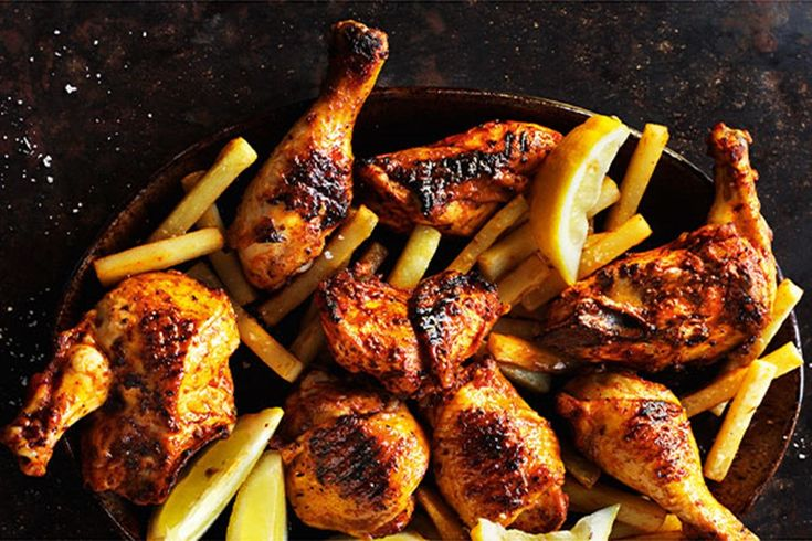 This piri-piri chicken recipe comes from Rick Stein's Long Weekends with photography by James Murphy  (BBC Books, hardback $65). It's perfect for a Saturday night barbecue, followed by Rick's impressive smashed liquorice meringues.
