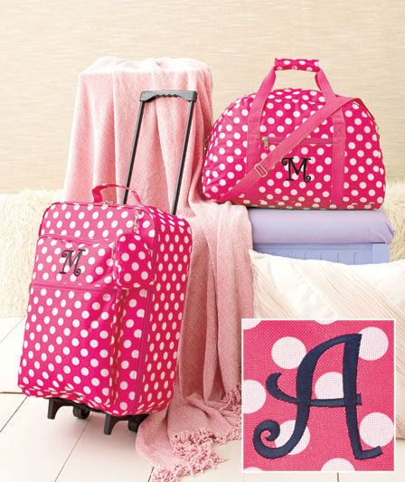 5adb51003903 3-Pc. Girls  Monogram Luggage Sets