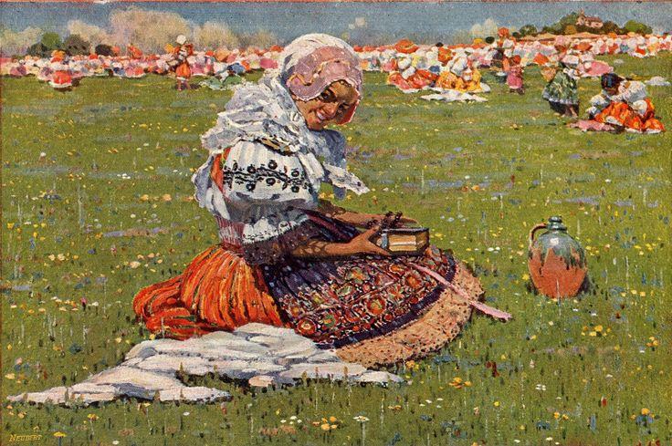 moravský folklor - Moravian folklore  Joža Úprka