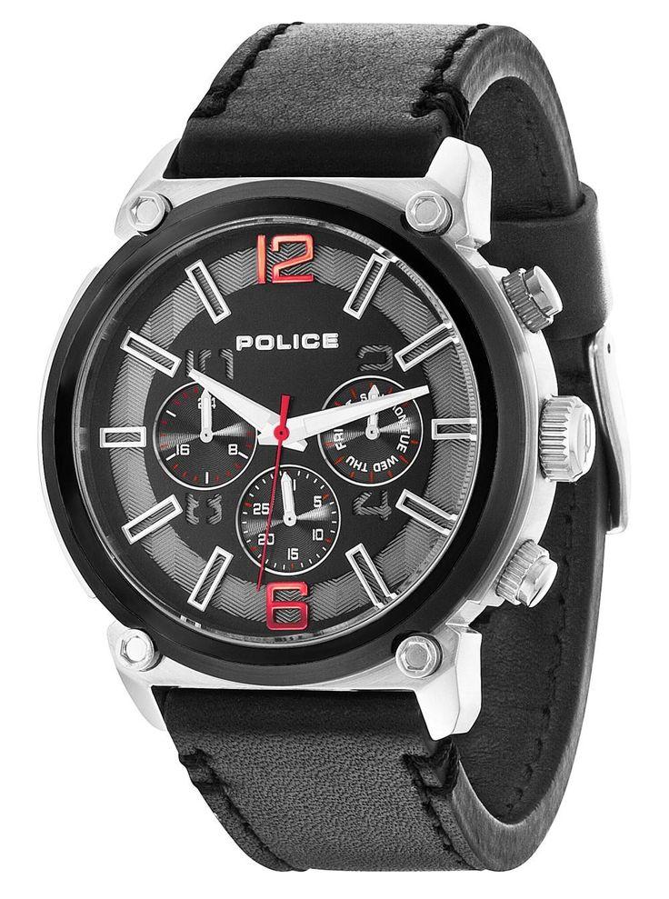 Police Armbanduhr P14378JSTB-02 Herrenuhr schwarz Multifunktion