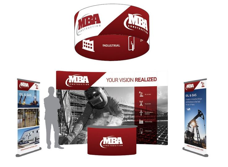 MBA Construction trade show booth #epicmarketing #marketing #tradeshow #graphicdesign #construction #tradeshowbooth