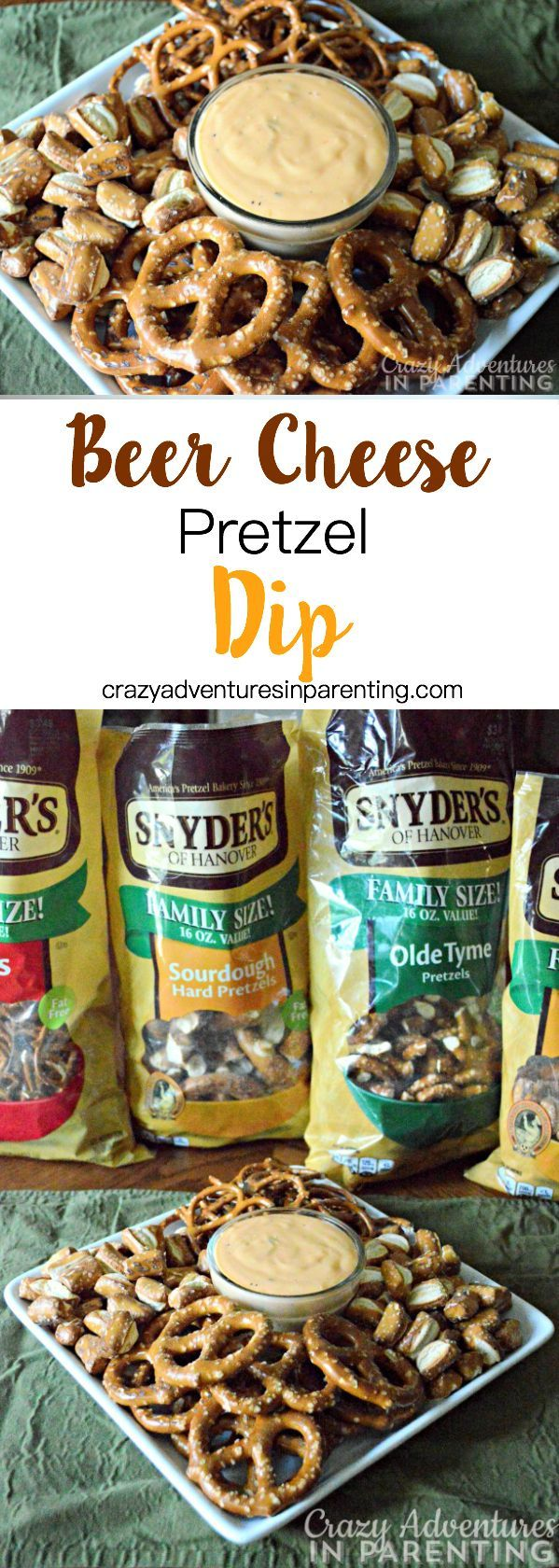 Beer Cheese Pretzel Dip - great for parties and entertaining!