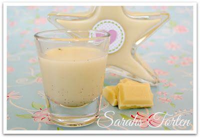 Vanillelikör mit weißer Schokolade