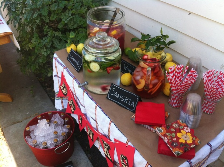 Baby Shower Picnic--Beverage Table