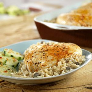 One Dish Chicken and Rice Bake - Campbell's Kitchen - Delish