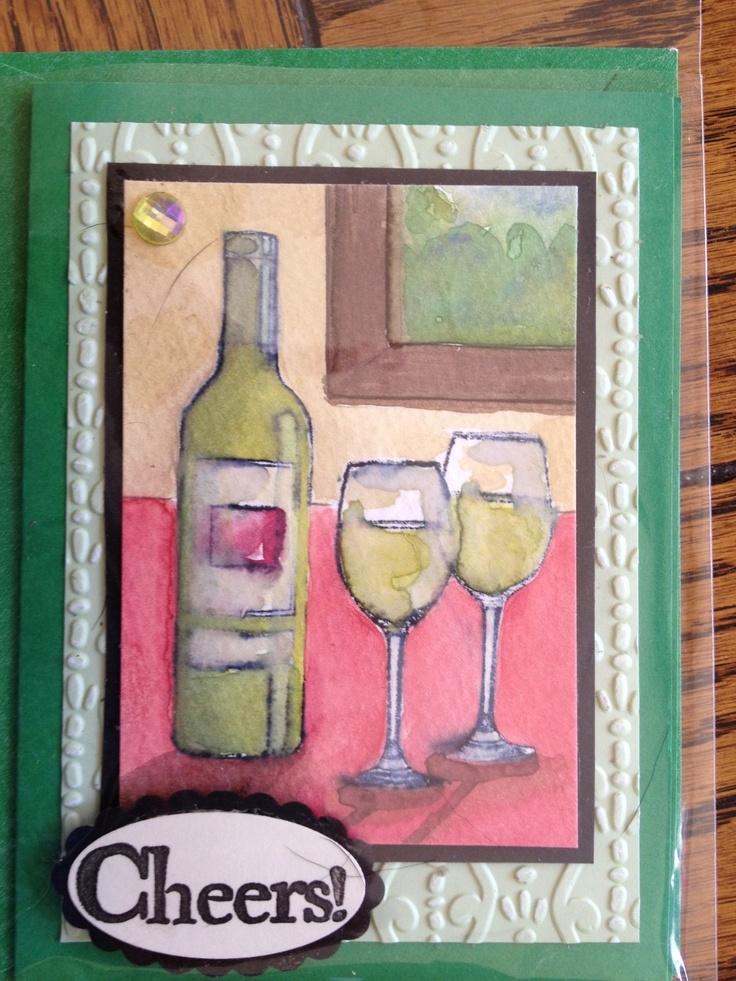 1000 Images About Cards Wine On Pinterest Ink Stains