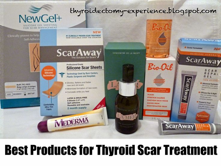 Details on which products I've found to work best to improve a thyroid surgery scar.