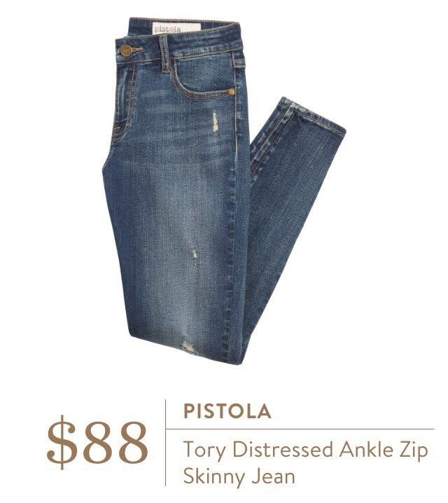Pistola Tory Distressed Ankle Zipper - only if mid or high rise