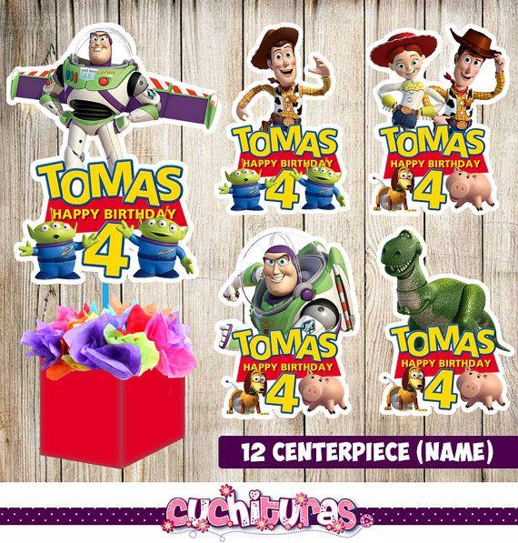 12 centros de mesa de toy Story centros de mesa por TusCuchituras