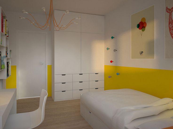 Projekt Wnętrza Pokoju Dziecięcego | Architekt Wnętrz Kraków | MOTIFO