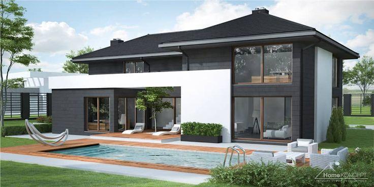Projekt domu HomeKONCEPT-40: styl nowoczesne, w kategorii Domy zaprojektowany przez HomeKONCEPT   Projekty Domów Nowoczesnych