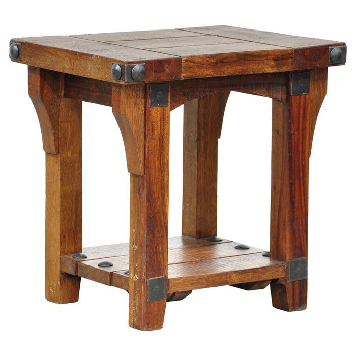 Neat Rustic End Table That U0026 39 S Perfect For A Living
