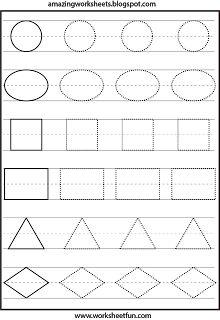 Shapes Tracing Worksheets