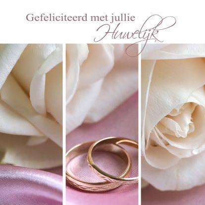 Felicitatiekaart Huwelijk, gemaakt door Redactie Kaartje2go
