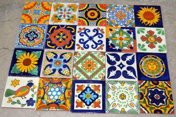 Mescolare 100 Talavera messicana Tile 4 x 4