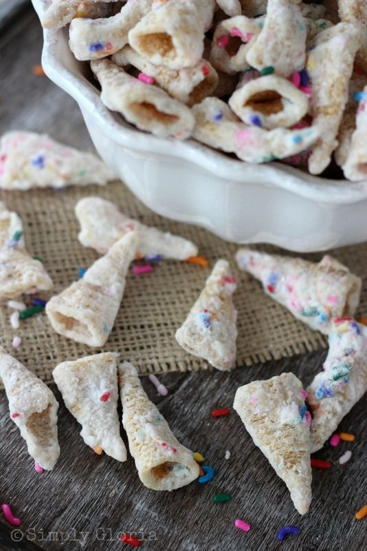 Funfetti Bugles... this could be the best things I've ever pinned.