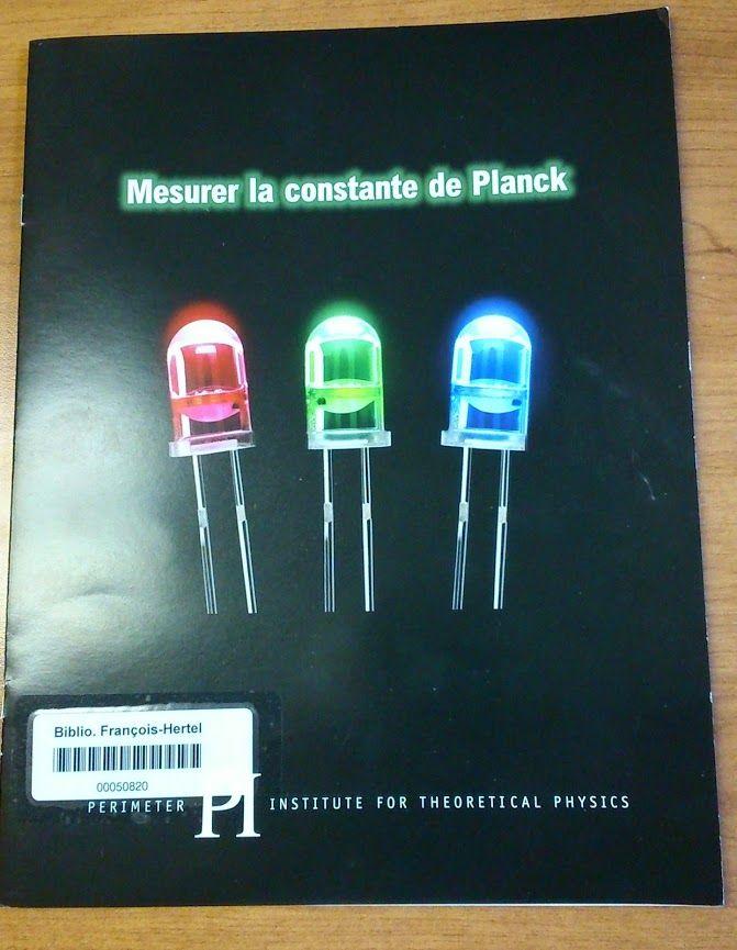 Mesurer la constante de Planck 530 M578