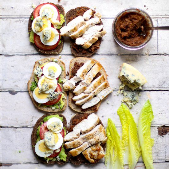 Bacon Jam Cobb Sandwich- Excellent for lunch or dinner! So Easy!  Indulgent spread.